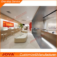 mobile phone shop interior design and shop decoration work for mobile chain retail shop counter
