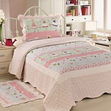 Comfortable Baby Blanket Cotton Embroidery Kids Quilt