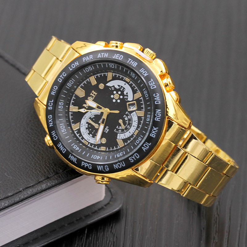 8409 Alibaba Hot Fashion auto date men watches stainless steel chronographic watches