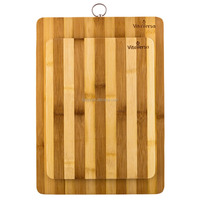 Bamboo Premium Wood Kitchen Cutting Board- Eco-friendly Strong Thick Chopping Board (10X15)