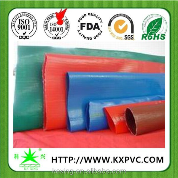 Extra heavy duty pvc water discharge hose / lay flat water pipe