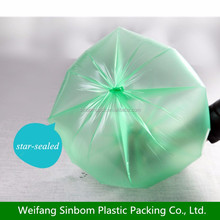 HDPE star sealed bottom garbage bags on roll