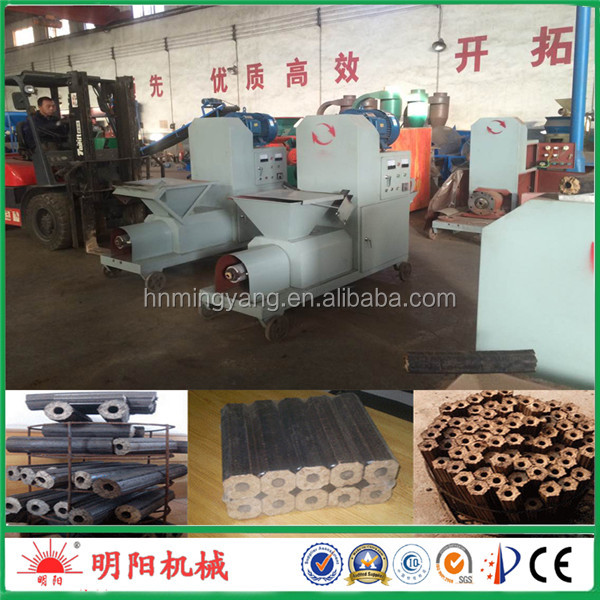 Factory sale manufactuer plant Small Capacity Rice Husk Sawdust Straw Briquette charcoal Making Machine +8615039052280