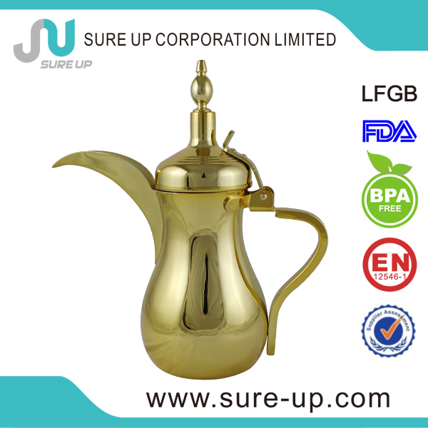 Wholesale good price gold arabic coffee pot dallah (OSUL)