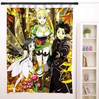New Sword Art Online Anime Japanese Window Curtain Door Entrance Room Partition H0101