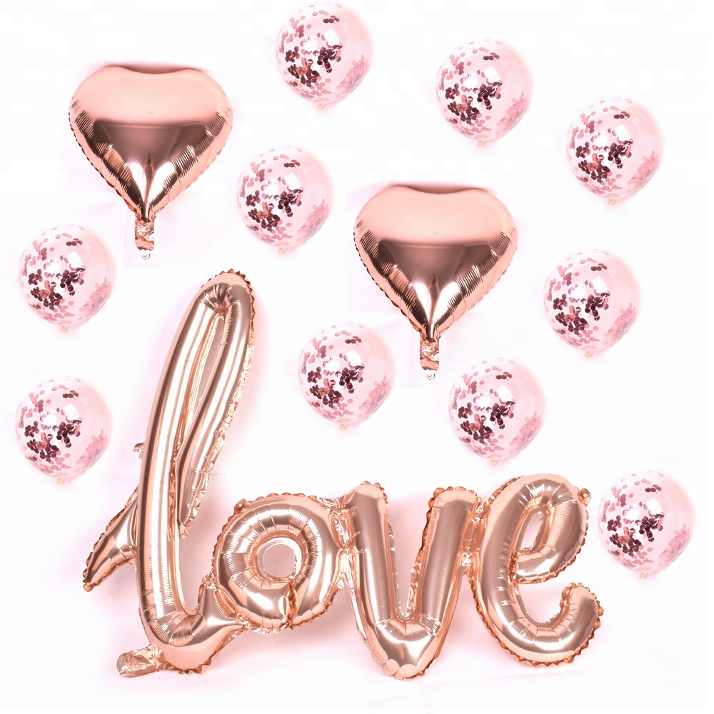 Amazon Happy Birthday Kit Rose Gold Number 30th Foil Balloon 12inch Confetti Balloons