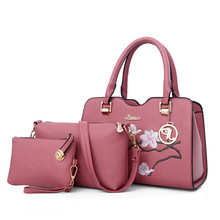 2017 New lady hand bag waterproof leisure woman bag set classic lady leather bag