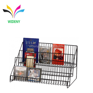 3 Tier Metal Wire Countertop Guitar Display CD DVD Storage Rack