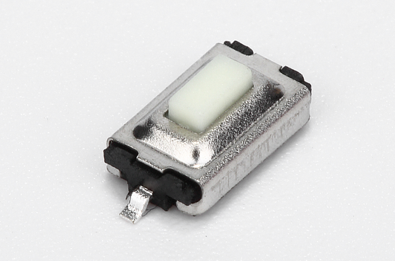 3x6x2.5 push button tact switch with white square head illuminated
