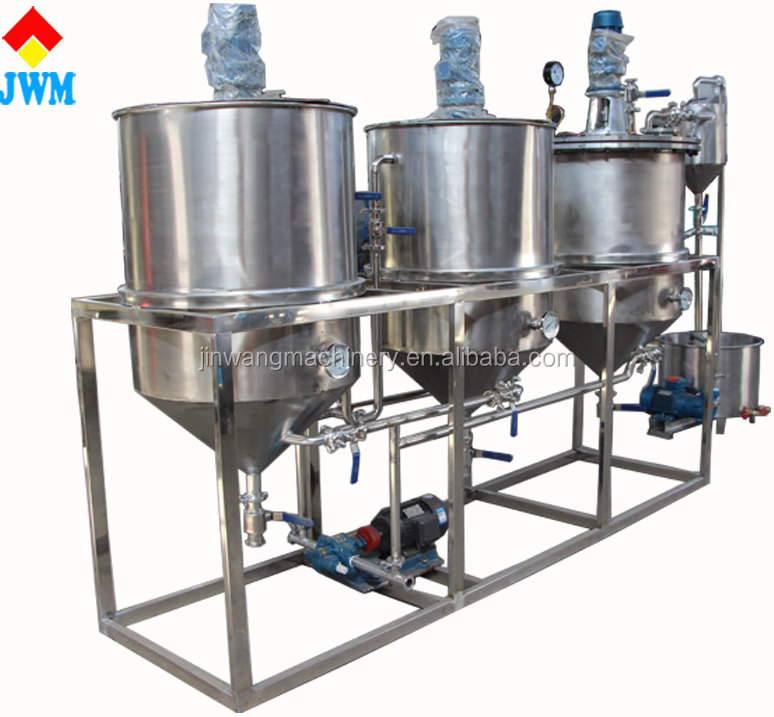 Factory direct sale soybean oil refining machine/durable oil refining plant/advanced modern vegetable oil refinery equipment
