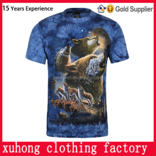 3D round neck custom printing men's t-shirt with high quality