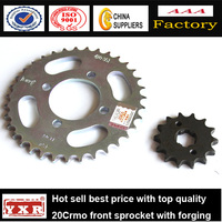 China manufacturer motorcycle spare parts motorcycle front sprocket