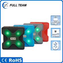 Wireless Bluetooth Mini Subwoofer Speaker Outdoor Sport Portable Stereo 7 Color Flash Light Disk Deep Bass w/ Mic Handsfree Call