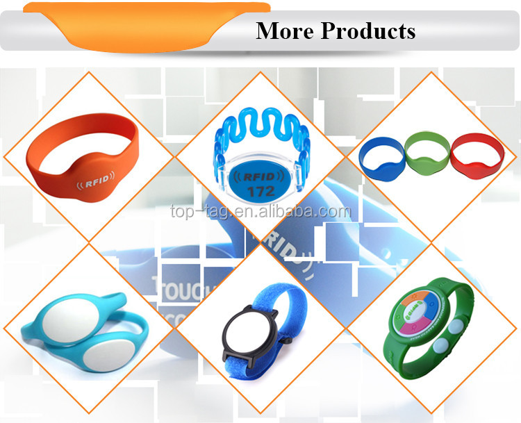 Custom design NFC smart wristband, Rfid printed fabric bracelets for event