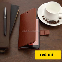 Luxury leather flip wallet back case for xiaomi redmi pouch stand capa celular cover