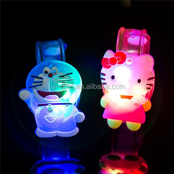 child bracelet led lighting cartoon light up kids bracelet with led light