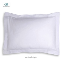 Deeda factory 100% cotton 200tc plain white hotel pillow case/pillow cover