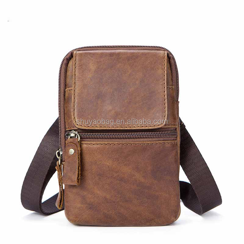 2018 Guangzhou leather men's bag retro men's shoulder Messenger bag packet leather fashion casual men's handbag