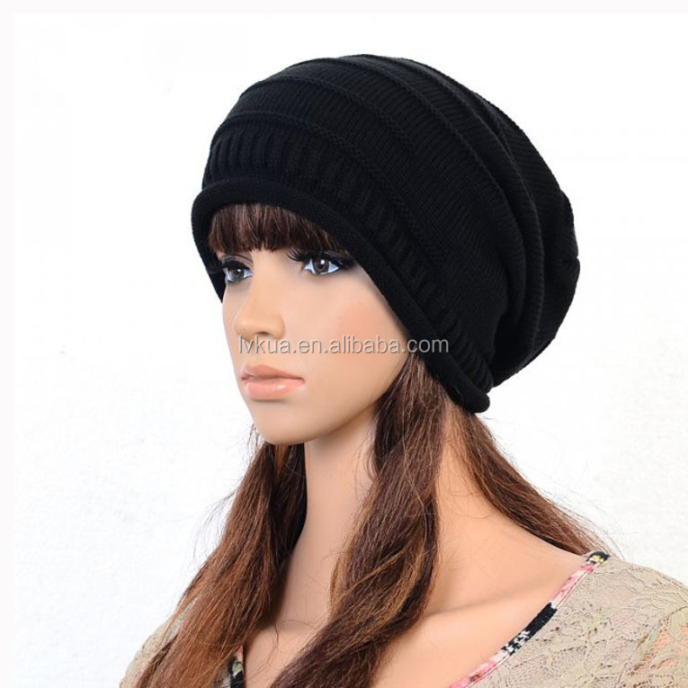 2016 Popular Autumn & Winter Knitted Women Skull Beanie Turban Hats