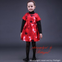 2015 Online Shopping Girl Print Dress Knee-Lenth Kid Autumn Clothing European And America Style Princess Outfits GD80928-2