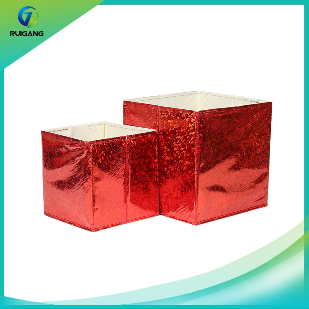 Factory wholesale decorative collapsible non-woven storage box