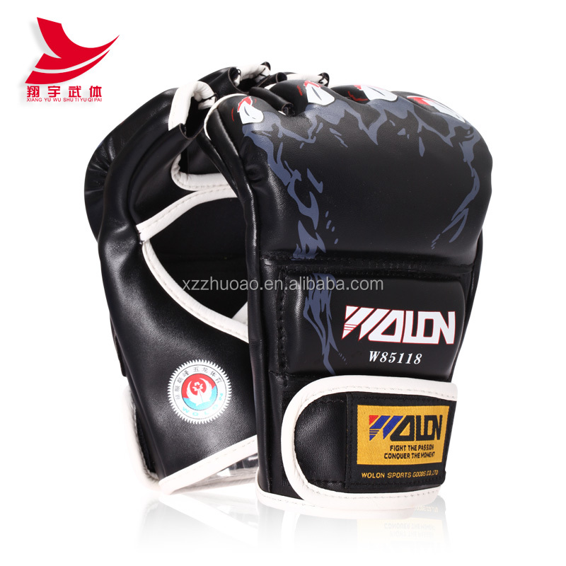 Wholesale Custom MMA Glove PU Amateurs MMA Gloves PU Material Muay Thai Boxing Gloves For Men