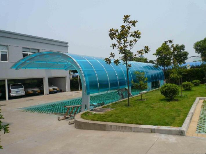 High quality Outdoor Aluminum Metal Frame Carport for Car Parking Lot