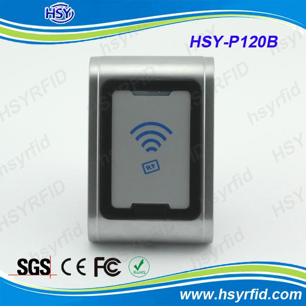 HSY-P120B Metal case rfid reader 125khz em4100 with IP68 waterproof