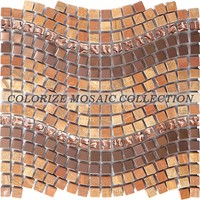 Colorize Mosaic glass mix stone mosaic tile (GY028)