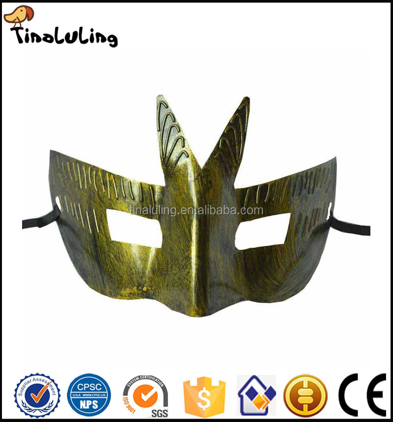 Event party supplies retro bronze and silver plastic Roman knight mask Venetian masquerade ball masks