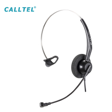 Single Ear Microphone Call Center Headphone Communication Headset with Flexible Mic and Soft Ear Cotton