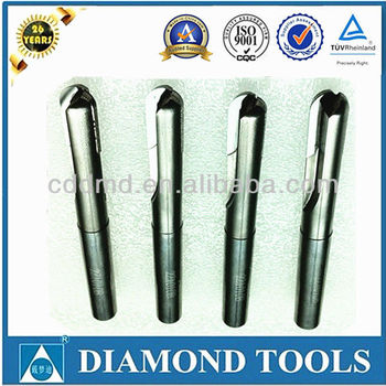 PCD end mill ball nose cutter with carbide shank