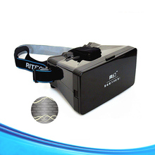 VR Box Version 3D Headset Glasses Virtual Reality Google Cardboard 3D Glasses With Adjustable Lens 3D Glasses