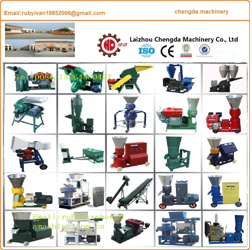 roller moving wood pellet machine with 8hp to 150hp tractor
