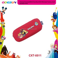 Disney Universal NBCU FAMA BSCI GSV Carrefour Factory Audit Manufacturer Neoprene Zipper Pencil Case With Compartments