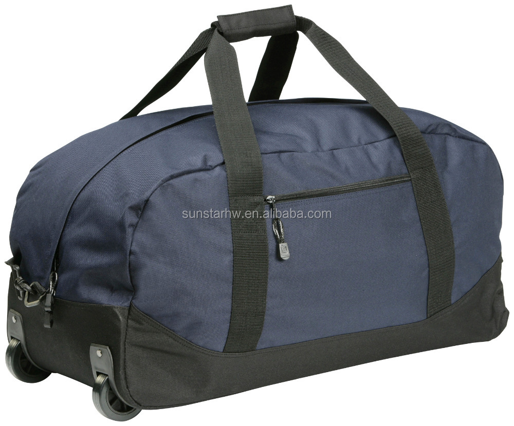 classical 600D durable trolley luggage bag duffel bag direct factory