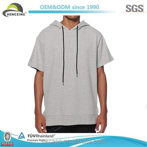 Men's High Quality Casual short sleeve hoodie