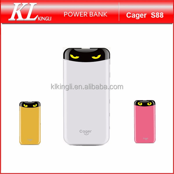 Cager S88 Big Capacity Cute Design Portable PowerBank Charger 6000mAh Cartoon Power Bank