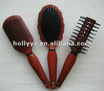 2016 high quality good design red wooden comb hairbrush