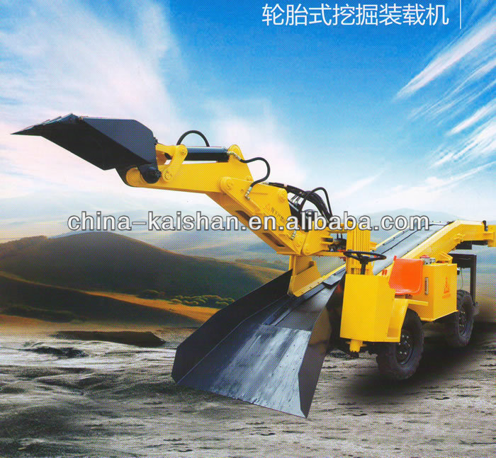 KAISHAN brand hot sale KBT60 rubber-tyred small backhoe loader