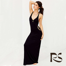 Hot Selling Backless Maxi Dress Summer Designs Woman Sexy Dress