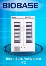 Refrigerator blood bank keep a better cooling temperature.
