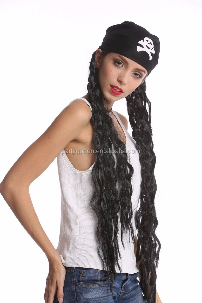 Carnival long rasta Pirate party wigs P-W234