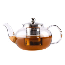 High borosilicate glass water kettles personalized tea pots with strainer
