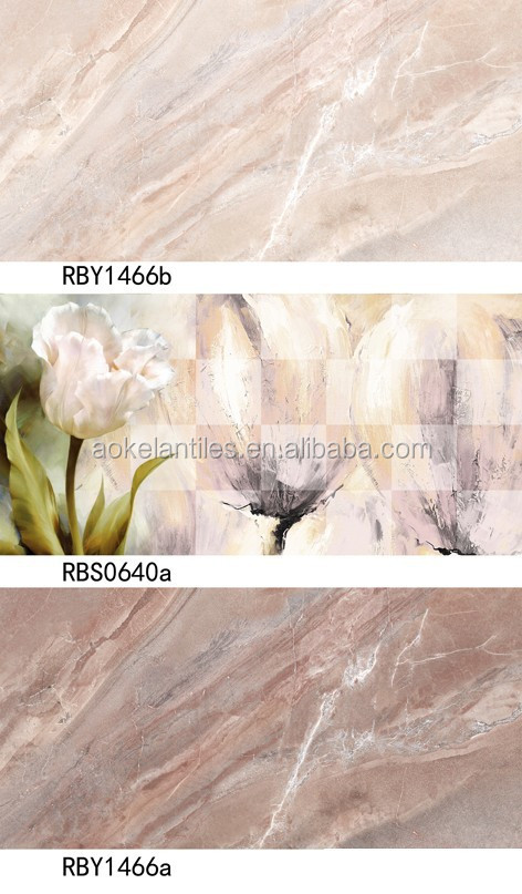 Bathroom designs 3D interior stone wall tiles 300x600