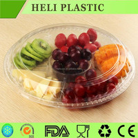 Transparent PET Container fruit salad packaging