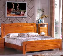 Double Size Solid Wood Teak Bed