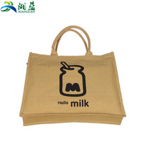 Excellent quality low price importer plain jute tote bag specification