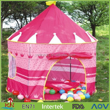 Pink Portable Folding Princess Play Tent for Children Kids Castle Cubby Play House