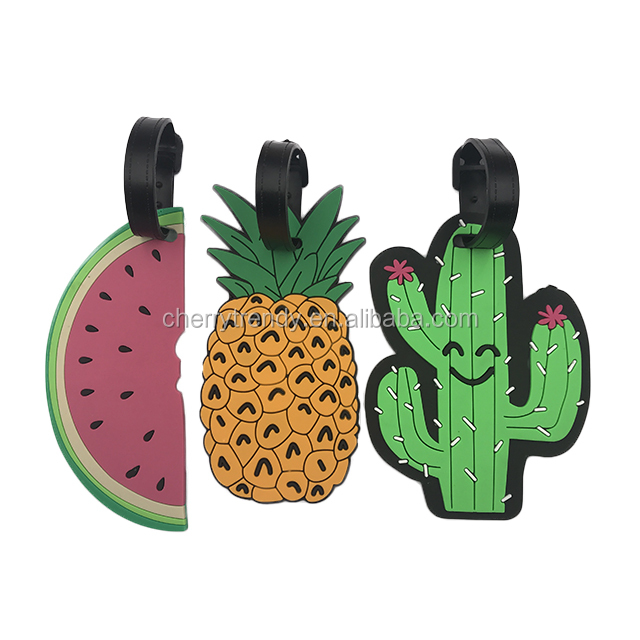 Silica Gel Suitcase ID Address Holder Baggage Boarding Tag Cactus Luggage Tag